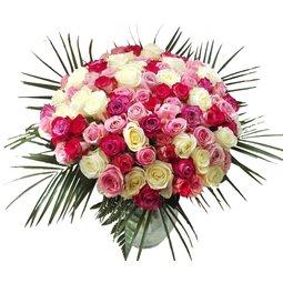 101 trandafiri asortati