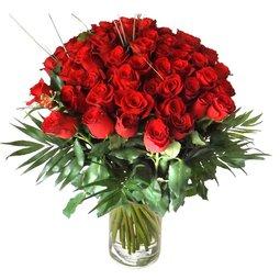 51 roze rosii
