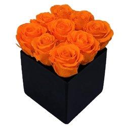 Aranjament trandafiri portocalii criogenati