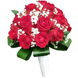 Buchet de mireasa trandafiri rosii