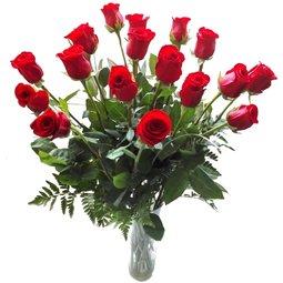 Buchet rubiniu de trandafiri