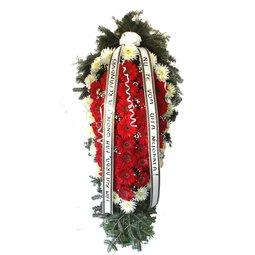 Sincere Condoleante - coroana gerbera rosii