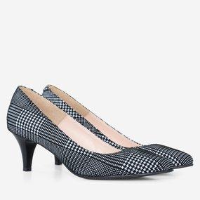 Pantofi dama cu toc comod din piele naturala Caitlin