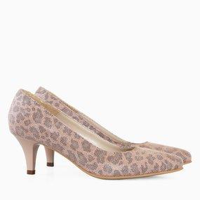 Pantofi dama cu toc comod din piele naturala Margaret