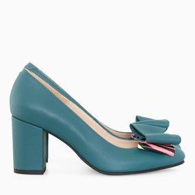 Pantofi dama cu toc comod din piele naturala Parker