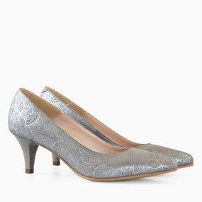 Pantofi dama cu toc din piele naturala Fabia