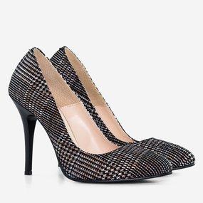 Pantofi dama cu toc din piele naturala Lilith