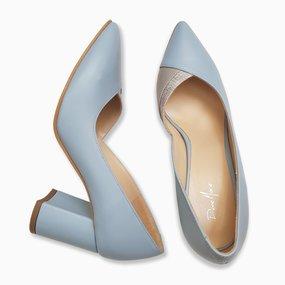 Pantofi dama din piele naturala bleu Margo