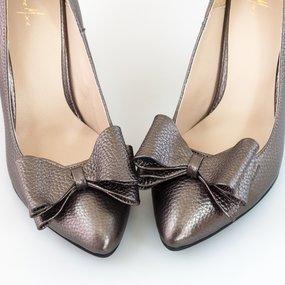 Pantofi dama din piele naturala bronz Anastasia