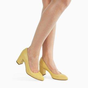 Pantofi dama din piele naturala galben Avery