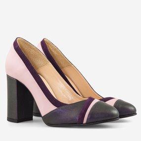 Pantofi dama din piele naturala mov Winslet