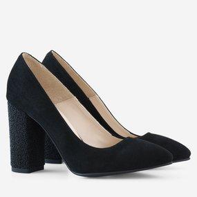 Pantofi dama din piele naturala neagra Priscilla