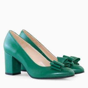 Pantofi dama din piele naturala verde Isabella