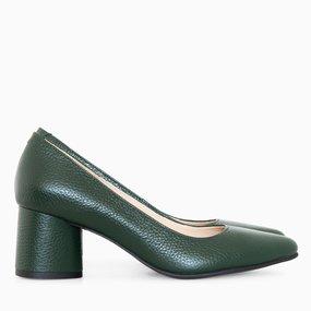 Pantofi dama din piele naturala verde July