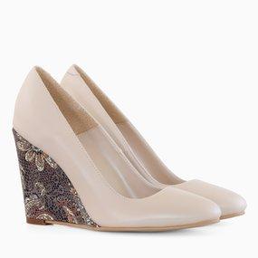 Pantofi din piele naturala camel Caroline
