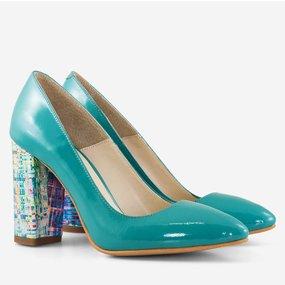 Pantofi din piele naturala turqoise Novalie