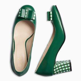 Pantofi din piele naturala verde Holland