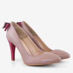 Pantofi stiletto cu funda la spate Malena