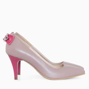 Pantofi stiletto cu funda la spate Monique