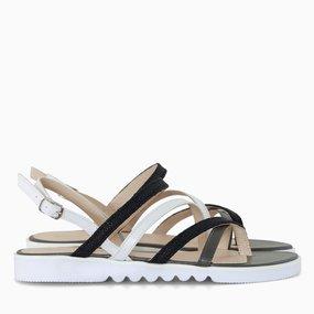 Sandale cu talpa joasa din piele naturala Helena