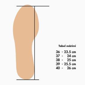 Sandale cu talpa joasa din piele naturala maro Veronica