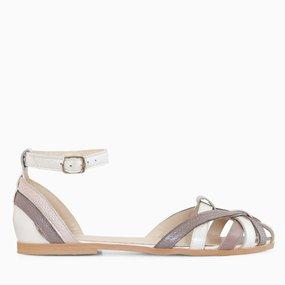 Sandale cu talpa joasa din piele naturala Salma