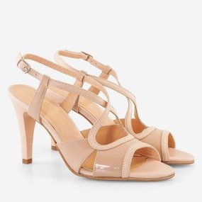 Sandale dama din piele naturala nude Juniper