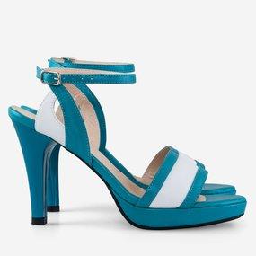 Sandale dama turcoaz din piele naturala Marie