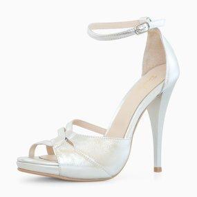 Sandale de ocazie cu toc din piele naturala Estella
