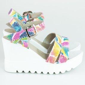 Sandale ortopedice din piele colorata Rainbow