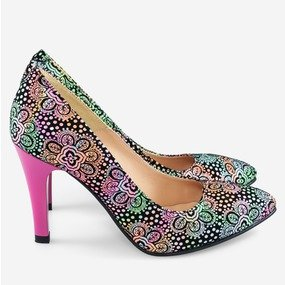 Stiletto multicolor Psihedelique