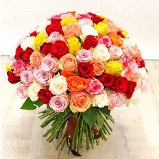 Consegna Rose Multicolore | Fiori a Domicilio dal Fiorista
