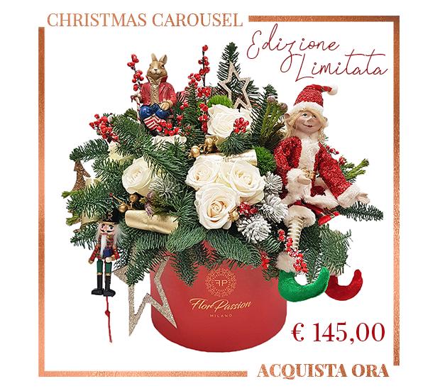Christmas Carousel Invia Fiori per Natale a Milano