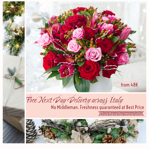 Christmas Flower Bouquet Free Delivery Italy with
