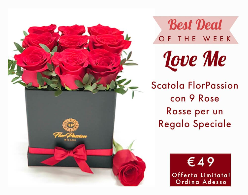 Box Rose Rosse FlorPassion Milano