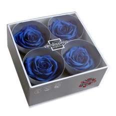 Blu Royal Preserved Premium Roses, 4pcs