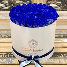 Blue Roses Box | Million Roses Box | FlorPassion Milano