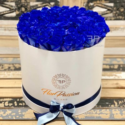 Blue Roses Box FlorPassion Flowers