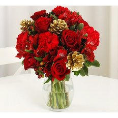 Red Christmas Bouquet | Send Winter Flowers Same Day Milan