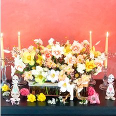 Easter Flowers Centerpiece | Slow Flowers | Same Day Delivery Milan Monza Como
