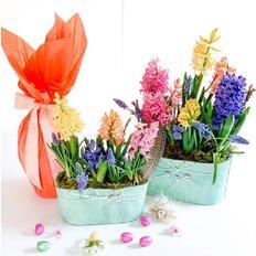 Uovo di Pasqua e Fiori | Regalo Pasquale | Fiori a km0 organici | FlorPassion
