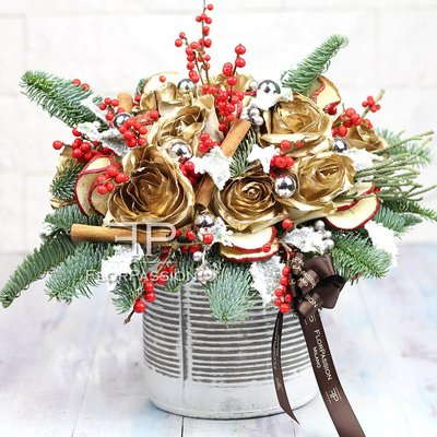 Gold Cristmas Flowers