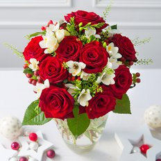 Christmas Red Roses | Same Day Flowers Milan Italy