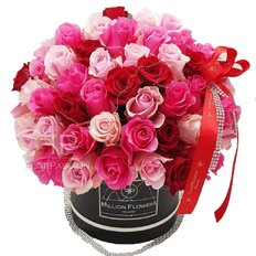 Pink Red Rose Box | Million Flowers Milano
