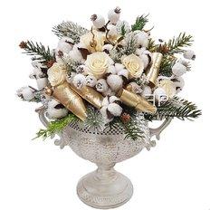 Regali Natale Lusso | Rose Stabilizzate | Composizione Natalizia Milano