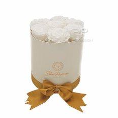 Preserved White Roses Box