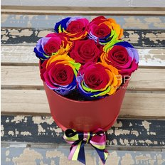 Rainbow Forever Roses Box