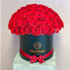 Scatola Rose Rosse | Consegna Million Roses Box Milano