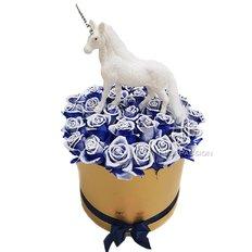 Box Rose Blu | FlorPassion Milano | Miglior Fiorista Online