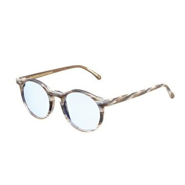 CANVAS BROWN BRUSHED FRAME - BLUE LENSES